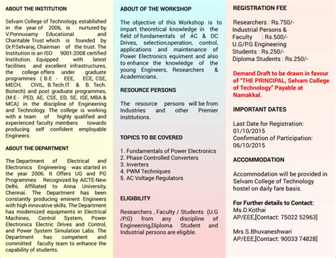 What Does Eee Pe Mba by One Day National Level Seminar On Power Electronics