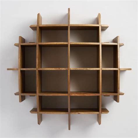 Home Decor Market convex wood wall shelf world market