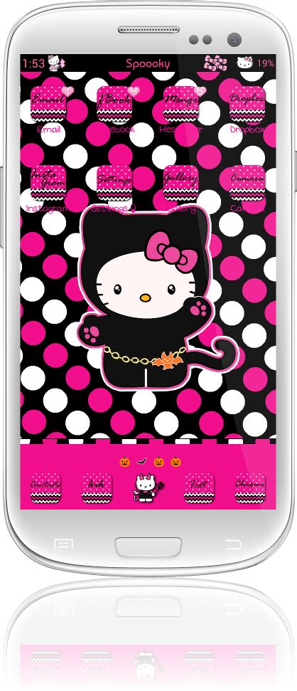 hello kitty locker themes pretty droid themes spooky hello kitty theme for go
