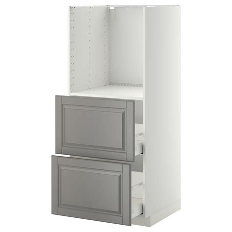 metod maximera high cabinet w 2 drawers for oven white