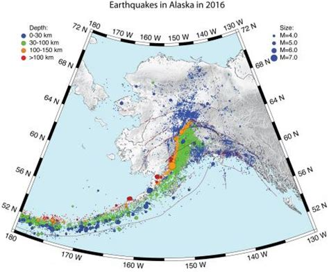 earthquake frequency earthquakes in alaska in 2016 alaska earthquake center