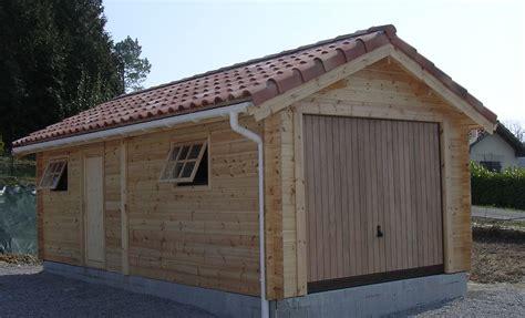 Garage En Bois Pour Voiture by Garage En Bois Une Place Garage Voiture