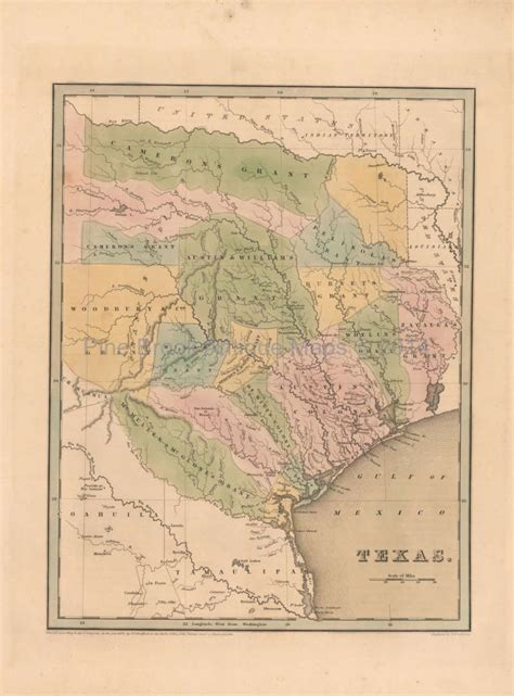 original map of texas republic of texas antique map bradford 1838 original ebay