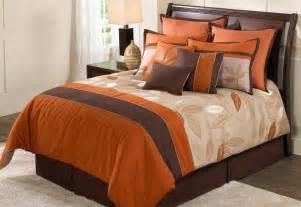 Bedding Sets Orange Garwood Comforter Set For Fall Orange Brown Bedset