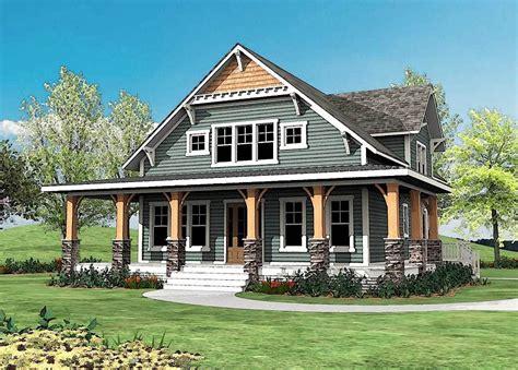 wrap around porch plans plan 500015vv craftsman with wrap around porch in 2019 craftsman houses craftsman house