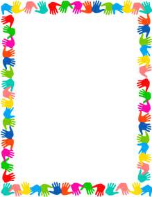 Hands on border page frames school hands on border png html simple
