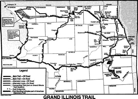 grand il map our resources the grand illinois trail by