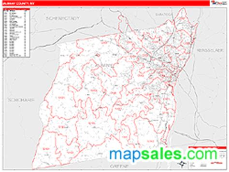 zip code map upstate ny albany county ny zip code wall map red line style by