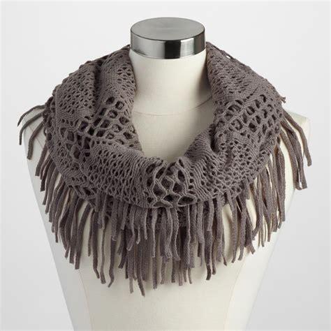 gray fringe infinity scarf world market