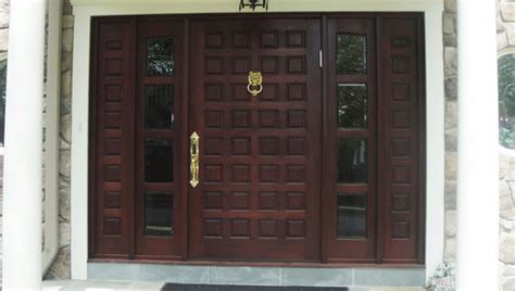 Custom Made Front Doors Custom Made Wood Mahogany Door Contemporary Front Doors New York By Custom Made Wood