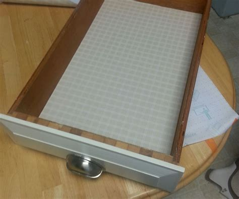 How To Apply Shelf Liner by How To Apply A Drawer Liner 2