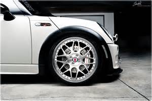 mini cooper hre wheels transportation in photography on