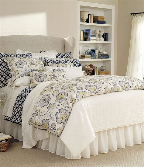 noble excellence bedding noble excellence villa amara floral blue ikat bedding