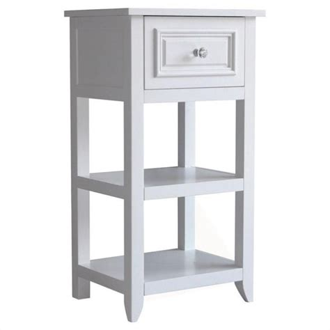 White End Tables With Drawers by 1 Drawer End Table In White 6858