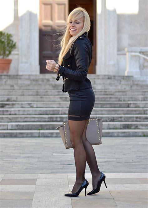 Reyn Shop Blouse Mimi Top Navy office black mini skirt and tight