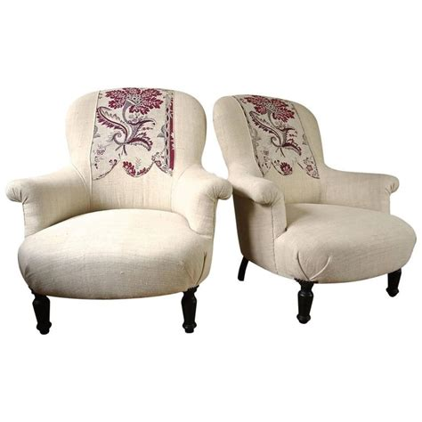 printed armchairs pair of french 19th century armchairs with 18th century