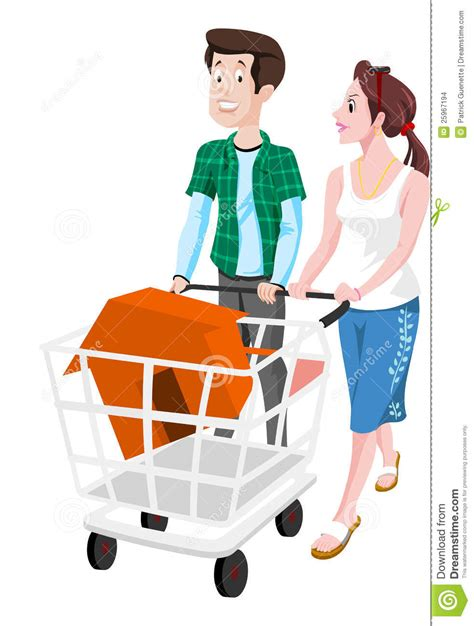 dreams about buying a house couple buying a house illustration stock images image 25967194