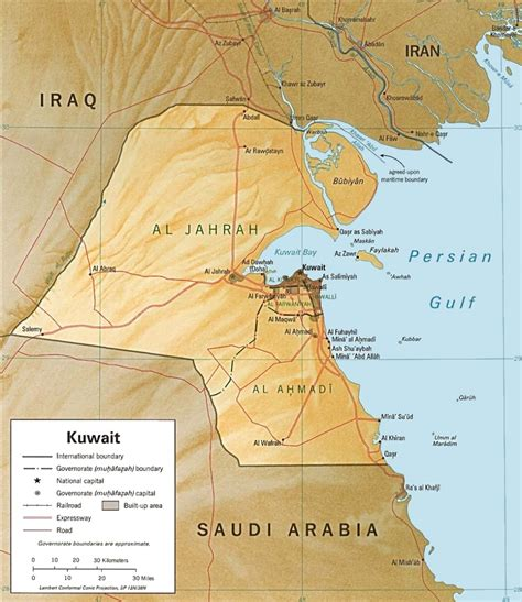 middle east map showing kuwait kuwait maps