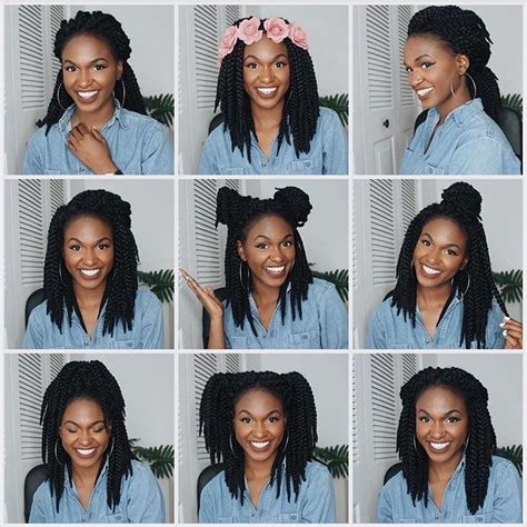 how to put crochet braids in your hair howstoco 9 ways to style your crochet braids ig kiitana s