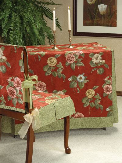 table slipcover sewing dining room custom fit table chair covers