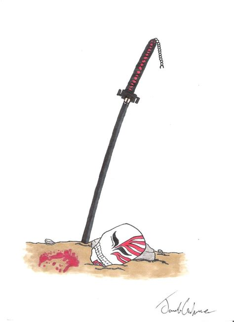 Kaos Ichigo Mask And Swords ichigo s sword and mask by toxicjack on deviantart