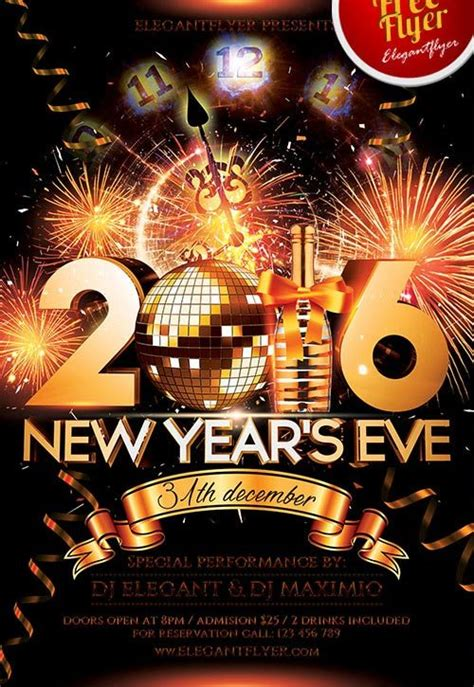 Download The Best Free New Year Flyer Psd Templates For Photoshop New Year Flyer Template Free