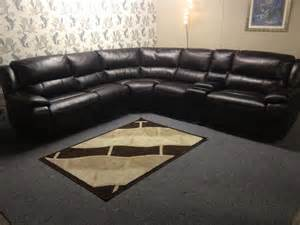 Harveys Leather Corner Sofa Harveys Sandbridge Large Corner Sofa Brown Leather Bel Air Rrp 163 2500 Cup Holder Ebay
