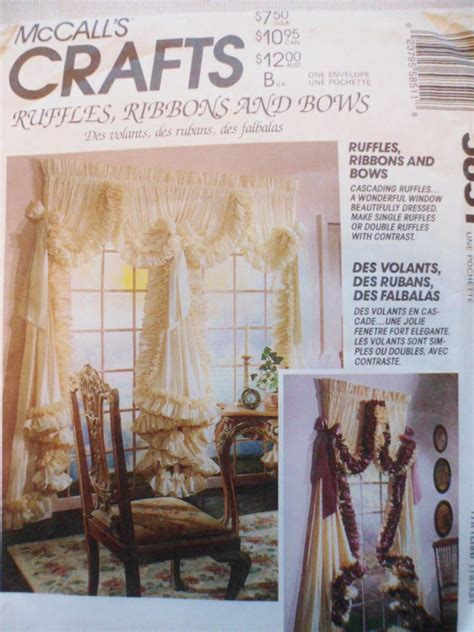 free curtain sewing patterns sewing pattern curtains ruffles ribbons bows mccalls crafts