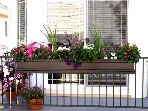 window box planters for railings flower box holders for railings