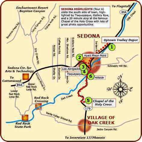 sedona az map map of sedona areas sedona map collection simple useful