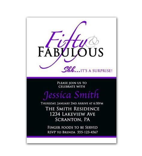 free printable 50th birthday invitations 50th birthday invitation fifty and fabulous