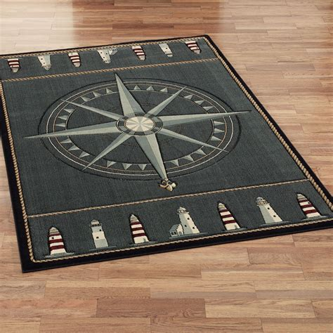 Nautical Area Rug Compass Nautical Area Rugs