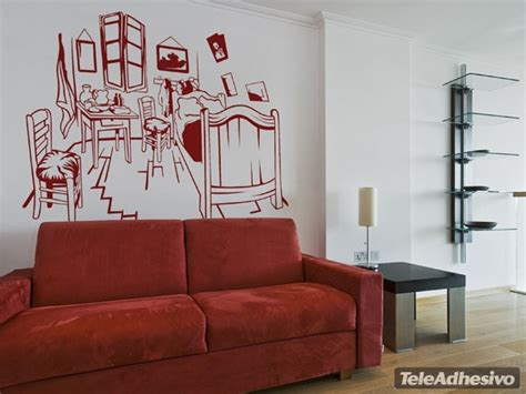 vinilos para habitacion vinilo decorativo habitacion van gogh