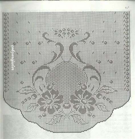 filet crochet curtains 29 best tende a filet schemi gratis images on pinterest