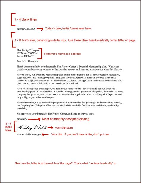 Formal Letter Format With Spacing 7 Formal Business Letter Spacing Financial Statement Form