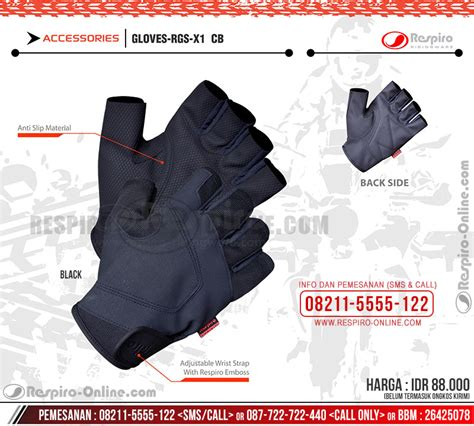 Ready Py 05 Hitam Sintetik sarung tangan respiro rgs x1 synthetic leather gloves