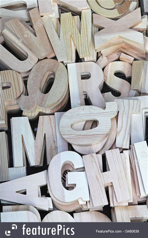 letters  numbers wooden letters stock picture