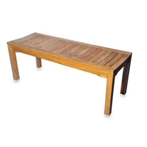 bench bed bath and beyond teak 19 5 inch backless bench with curved seat