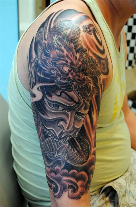 half sleeve dragon tattoos for men asian tattoos half sleeve japanese half sleeve 2