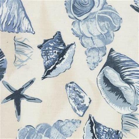 Bolt Home Indoor Atau Outdoor sea shells porcelain indoor outdoor fabric 30 yard bolt