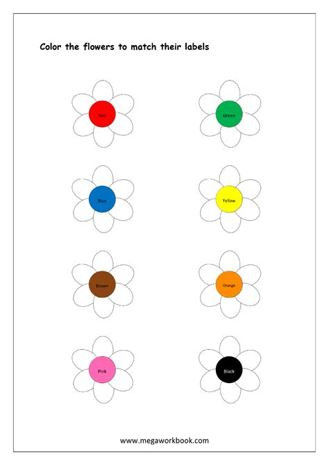 color recognition color recognition worksheet color the objects using