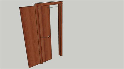 porta scorrevole interna porta scorrevole interno muro 3d warehouse