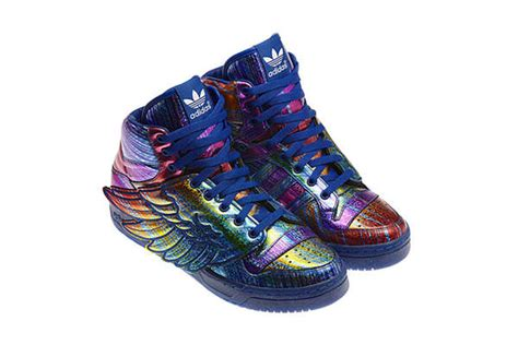 rainbow colored shoes metallic rainbow colored sneakers js wings hologram