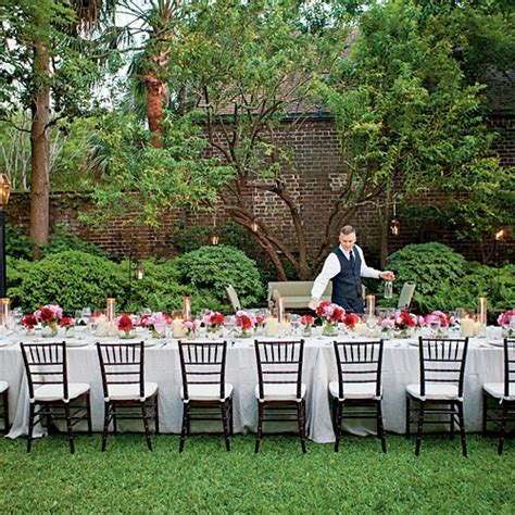how to set up a backyard party an elegant garden party set the scene for a really