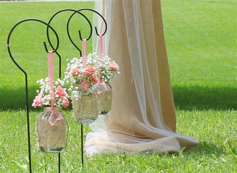 Wedding Aisle With Shepherds Hooks by Shepherd Hook Aisle Home Hooks And