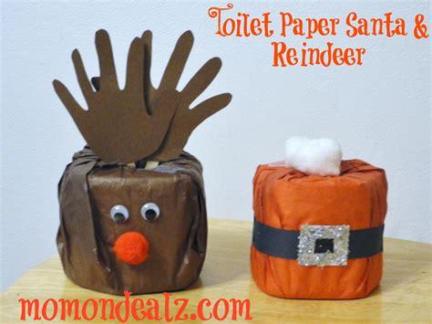 Toilet Paper Santa Craft - crafts toilet paper santa and reindeer