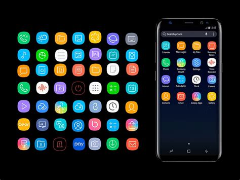 Samsung Galaxy S10 Icons by Samsung S8 Icon Pack Fluxes Freebies