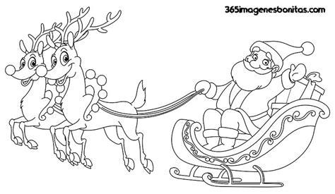 imagenes de santa claus y los renos im 193 genes de navidad para colorear dibujos bonitos