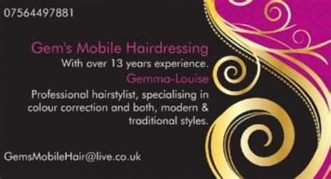 Mobile Hair Dressers by Gem S Mobile Hairdressers Mobile Hairdressers In Nottingham