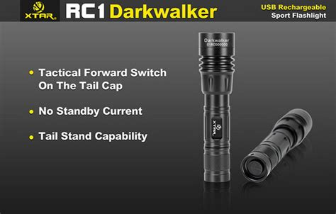 Xtar Rc1 Darkwalker Usb Rechargeable Senter Led Cree Xp L V6 800lumens xtar rc1 darkwalker cree xp g2 s2 led usb rechargeable flashlight torch battery ebay
